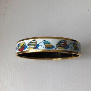 Vintage Hermès nautical enamel bracelet